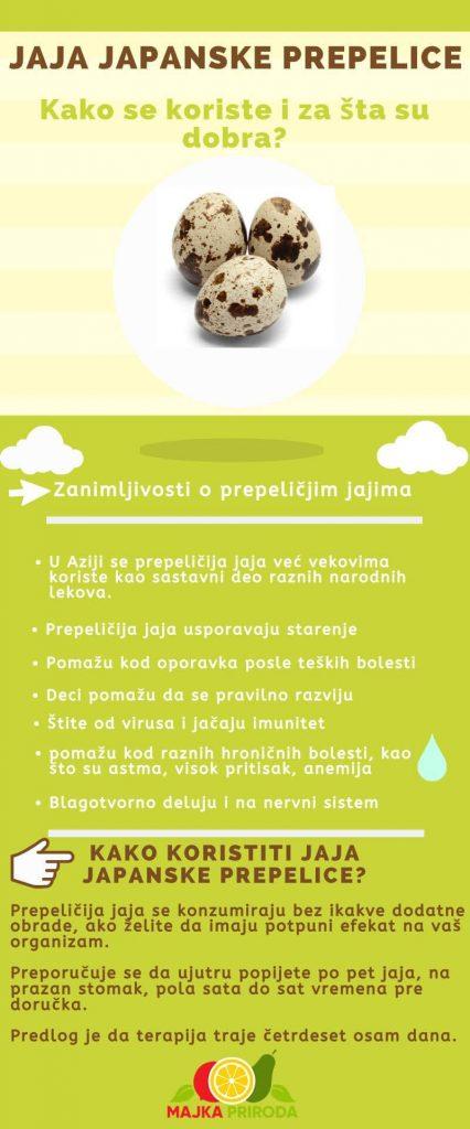Infografik jaja japanske prepelice