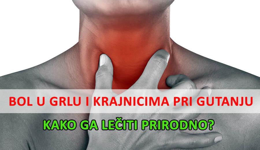 bol u grli pri gutanju