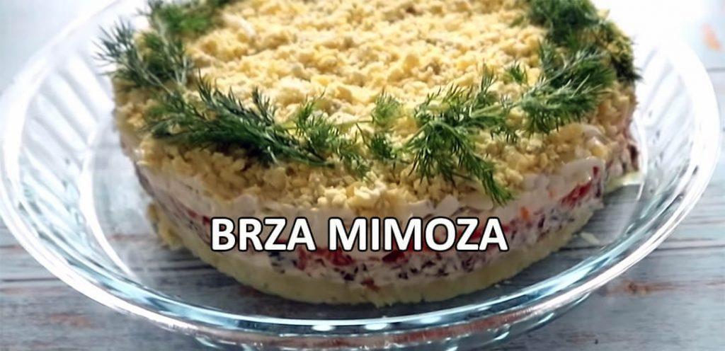 brza mimoza salata recept