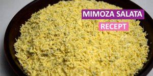 Domaći recept za mimoza salatu - mrsna i posna mimoza