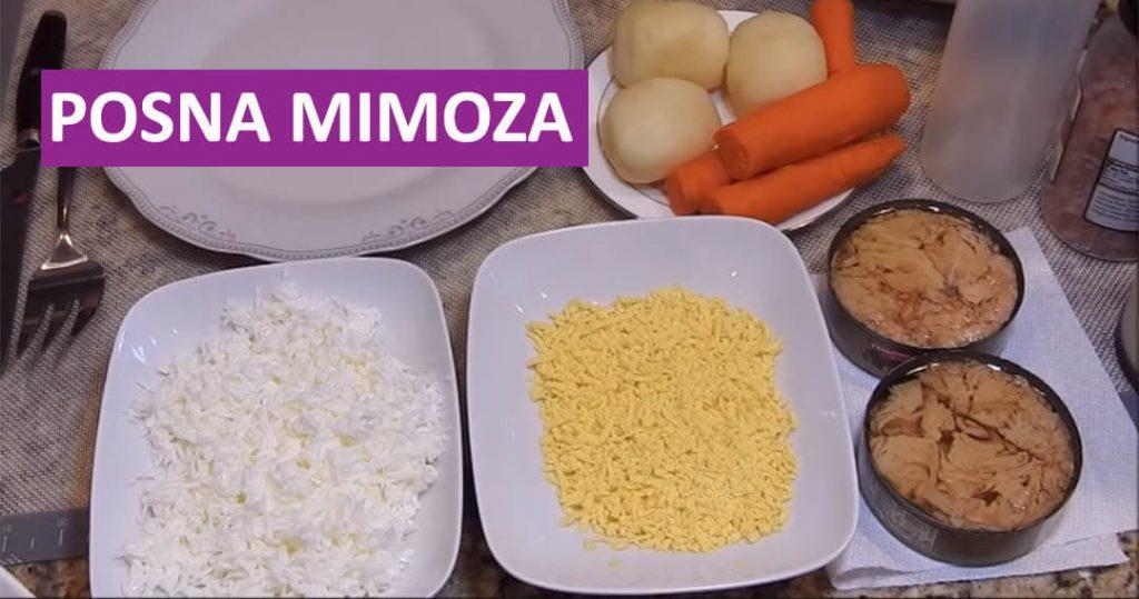 posna mimoza salata