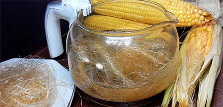 priprema čaja od kukuruzne svile