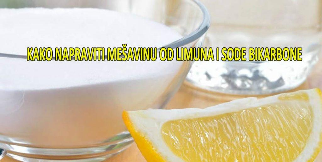 kako se koristi soda bikarbona i limun