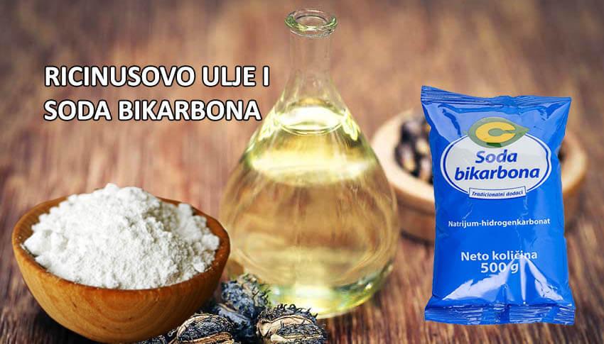ricinusovo ulje i soda bikarbona