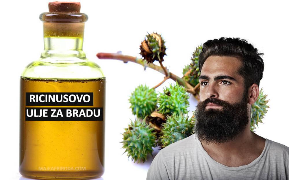 ricinusovo ulje za bradu