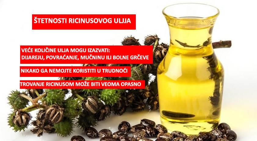 štetnost ricinusovog ulja