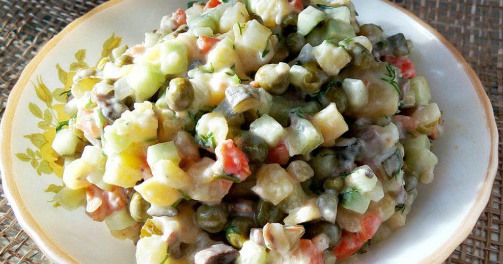 recept za spremanje posne ruske salate
