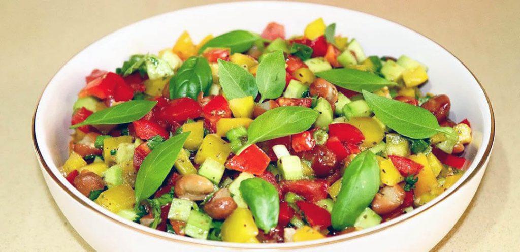 posna salata sa pasuljem