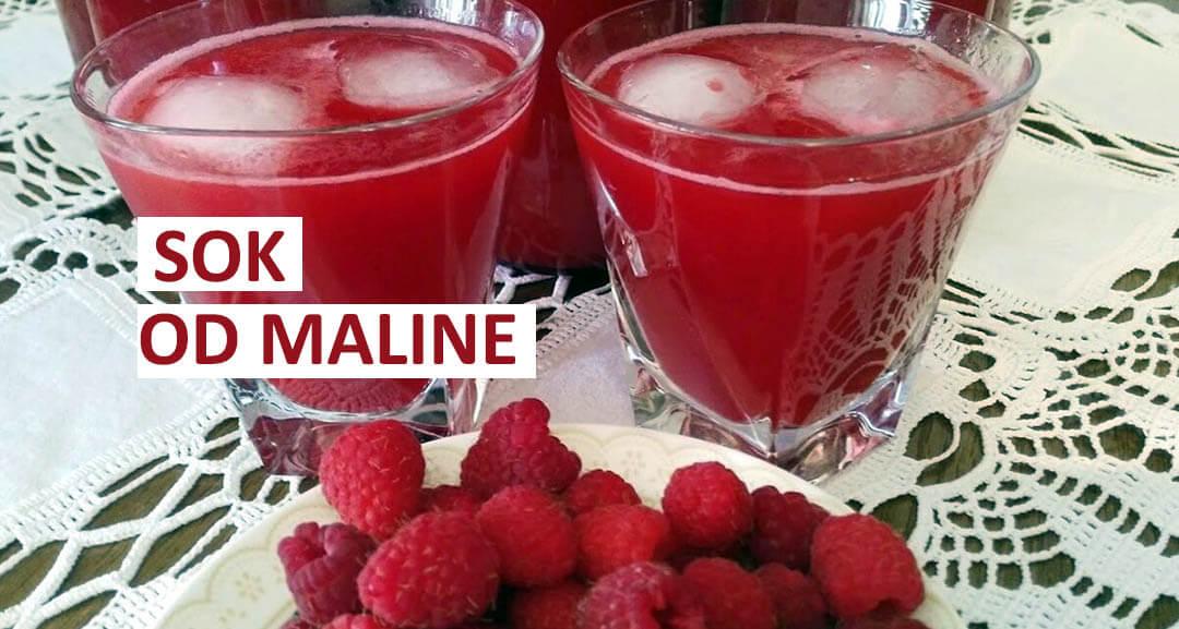 sok od malina recepti
